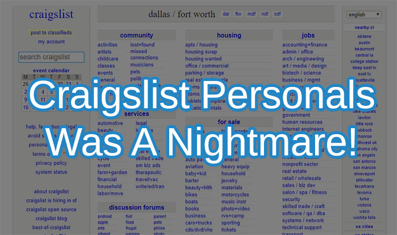 craigslist personals casual encounters